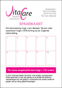 strippenkaart 30% korting VitaCare Health Solutions